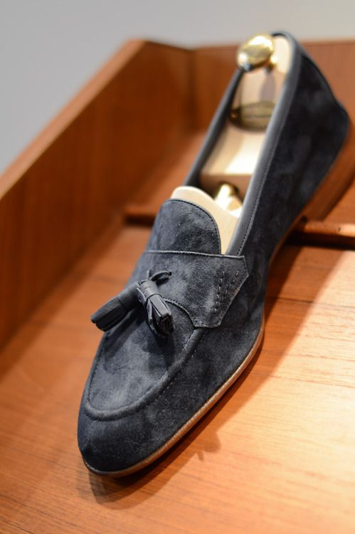 98bc7832c24 Edward Green. Edward Green Tassel Loafers in suede ...