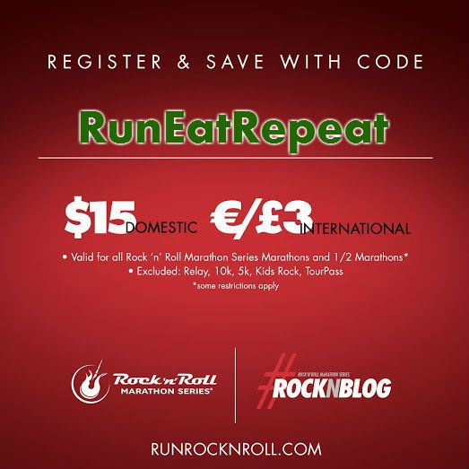 Half marathon and marathon discount coupon codes race recaps rock n roll marathon discount code malvernweather Gallery