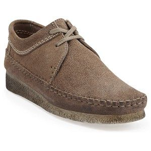 clarks womens desert weaver casual shoestaupe distressed