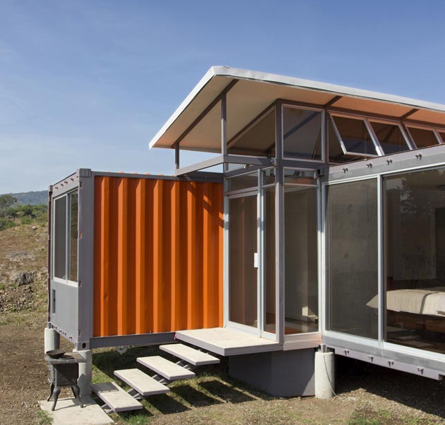 Shipping Container Homes Small Home Living Isbus Corten Steel Containers Off The Gri Container House Container Architecture Shipping Container Architecture