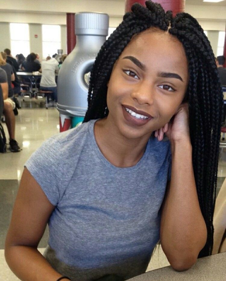 Pin By My Info On Makeup Braided Hairstyles Box Braids