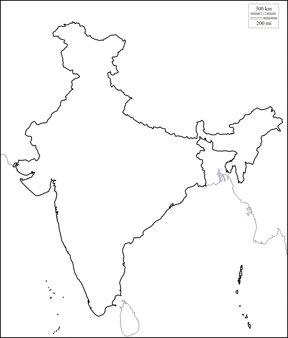 Map Of India Outline Map Of India With States India Map Map