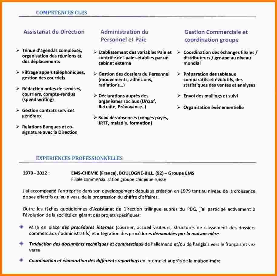 6 Cv Assistante De Direction Exemple Lettre Assistante De Direction Lettre De Motivation Modeles De Lettres