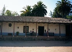 A Spanish house in the Chilean countryside built during the colonial period