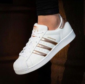 adidas superstar wit rose goud
