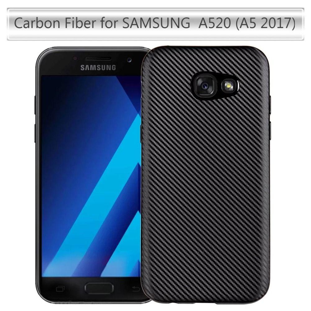 For Samsung Galaxy A5 2017 A520 Cover Ultra Thin Soft Tpu Layer Case Softcase Droff Matte Black J5 Prime A 5 520 Non Slip Back
