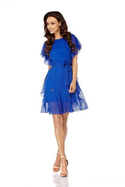 Cocktail dress with playful ruffles