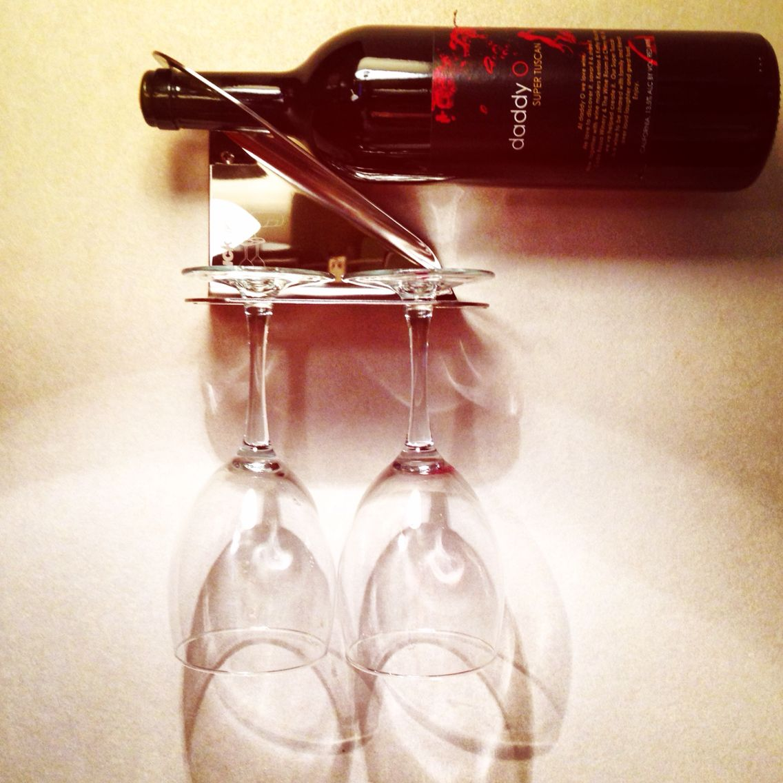 Store Your Wine Glasses Upside Down On A Rack To Avoid Dust Getting Into The Glass This Also Allows For The Glasses To Dry With S Wine Night Wine Wine Storage
