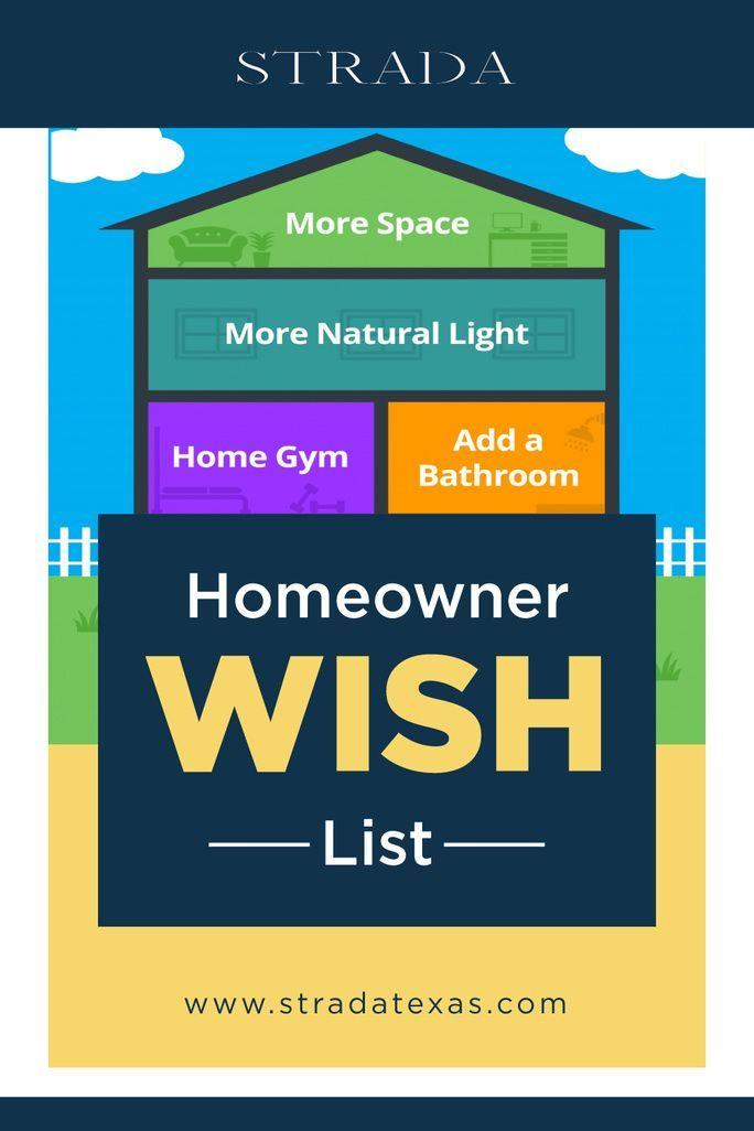 Do you have a large homeowner wish list? Maybe it's a large master bath, great room, finished basement. Keeping this list in mind will help when you decide to sell your home. #realestatetipsforsellers #realestate #realestateagents #realestatemarketing