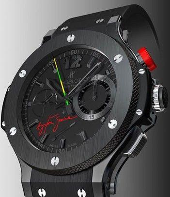 b4db1ca79f1 Relógio Réplica Hublot Big Band Black Ceramic Ayrton Senna