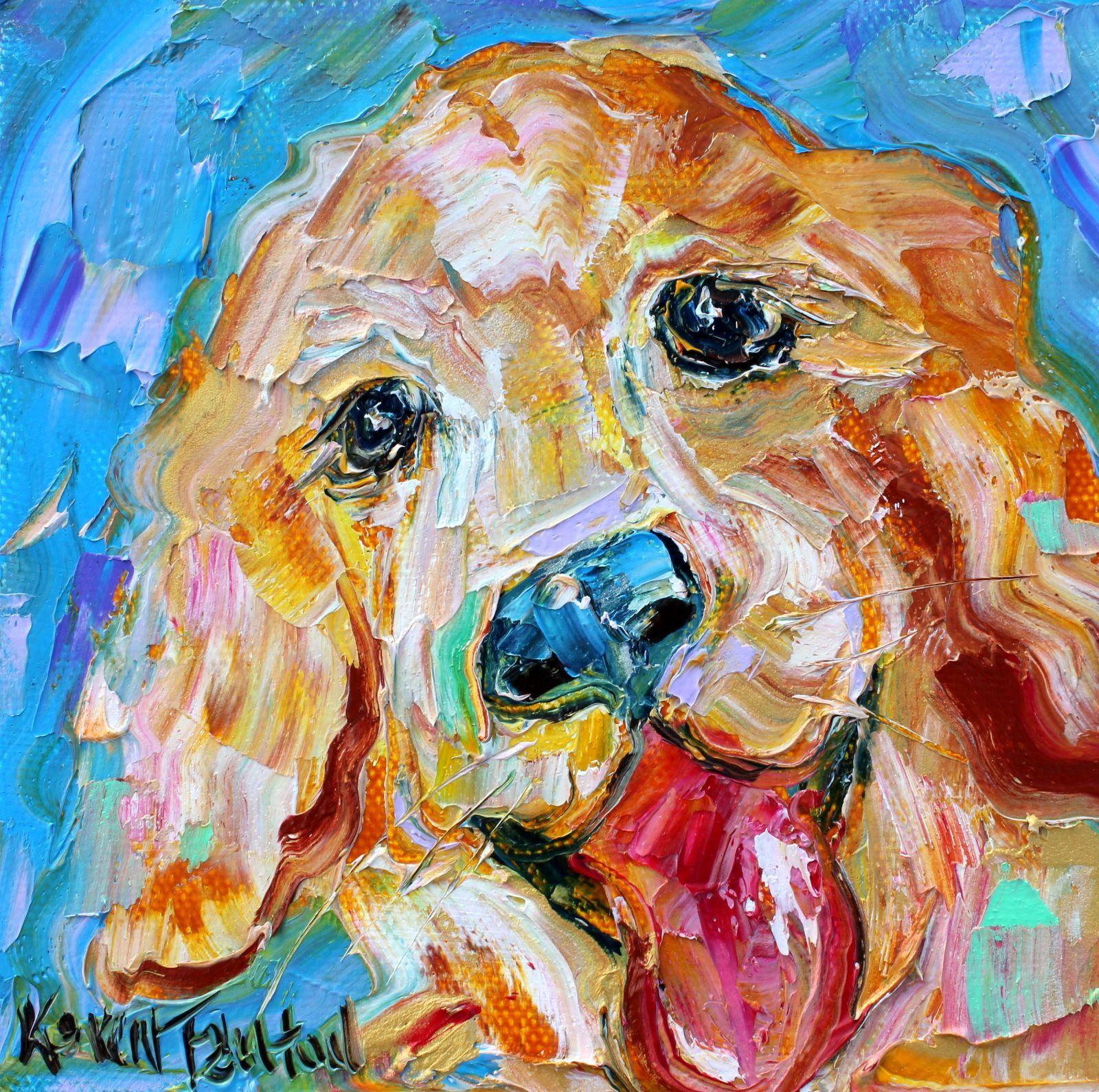 Dog Painting, Pet Art, Dog Portrait, Original Oil Palette