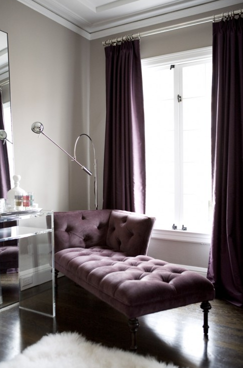 Color Scheme Purple And Grey Purple Rooms Home Home Decor #plum #living #room #curtains