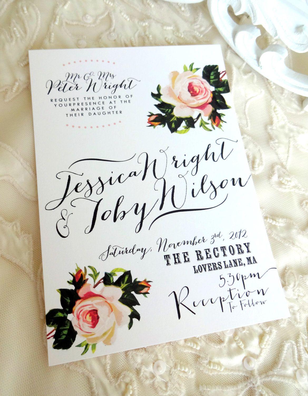 RUSTIC WEDDING INVITATION Suite - Unique, Custom Designed Wedding ...