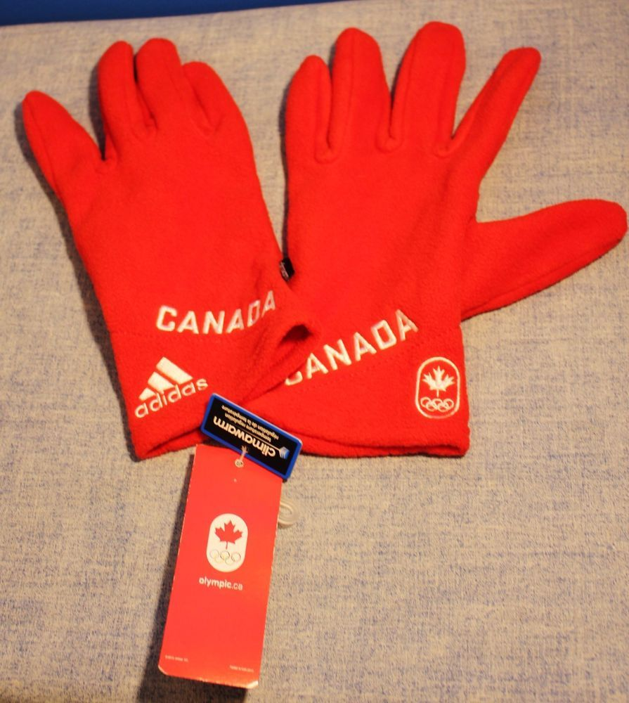 Adidas climawarm womens gloves size large olympics canada