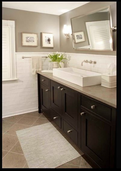 Wall Color Greige Beige Neutrals Wall Vanity Floor