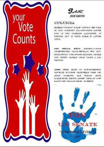 Political Election Campaign Flyer Template Word  Free Political