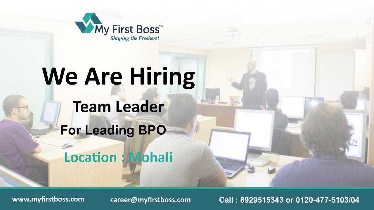 Team leader Jobs for freshers, Job portal, Find a job