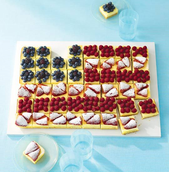 A Pretty, Patriotic Cheesecake Flag Martha Stewart