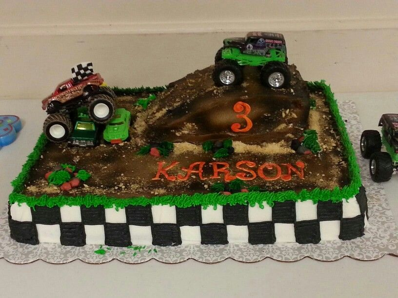 Grave Digger Monster Truck Cake With Images Monster Truck