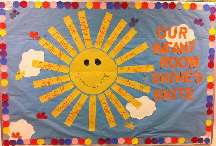 Our Students Shine Bright Summer Bulletin Board Idea Toddler Bulletin Boards Summer Bulletin Boards Preschool Bulletin
