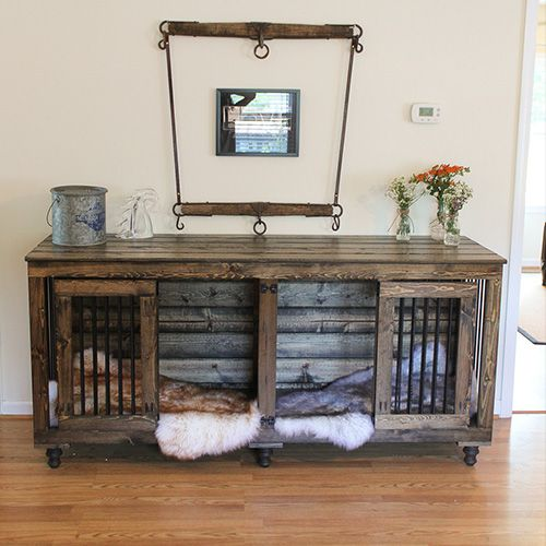 Beautiful Indoor Wooden Dog Kennels And Crate Furniture