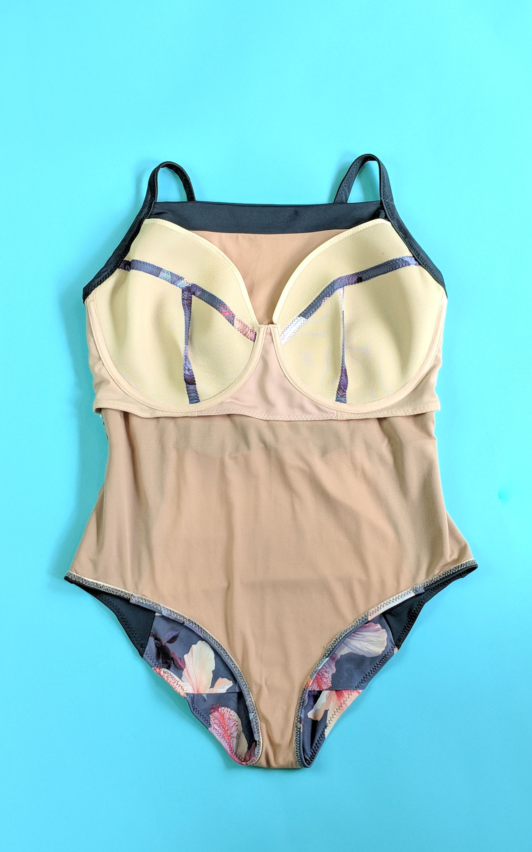 17dac0f7b434c The Cashmerette Ipswich Swimsuit Sewing Pattern is stylish AND supportive  thanks to a built-in underwired swim bra! Designed for curves in sizes 12 -  28