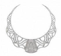 Colección Titanium - Collar de titanio, engastado con 1020 brillantes con un peso de 15,30 quilates.