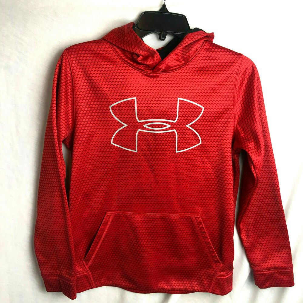 Red Youth Hooded Sweatshirt Large