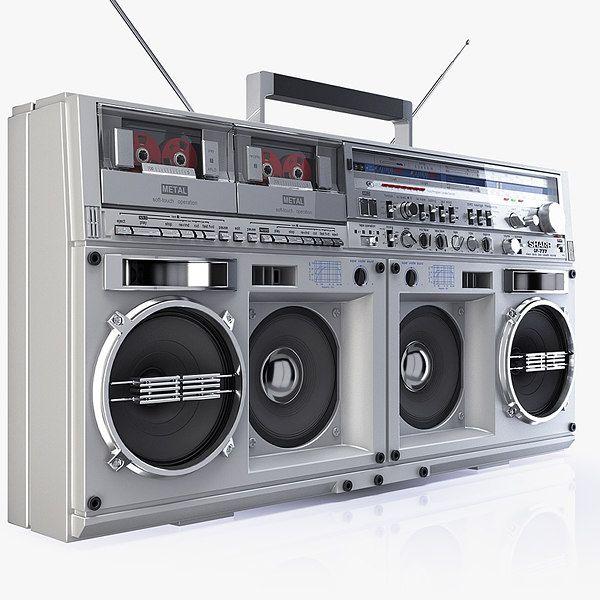 sharp gf 575. legend boombox sharp gf 3d model - 575