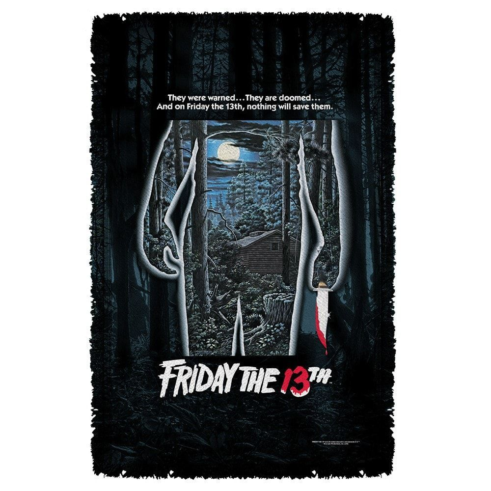Friday The 13th Poster Throw Blanket