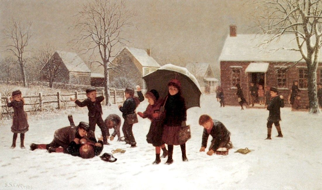 Carr, Samuel (b,1837)- School's Out -2b