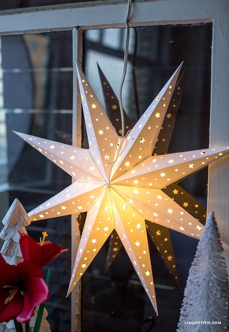 DIY Paper Star Window Decoration Paper stars, Diy paper and Template - star template