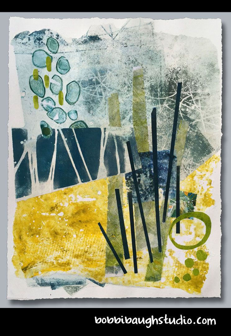 Beginning A New Thing Acrylics Monotype Printed On Rice Paper