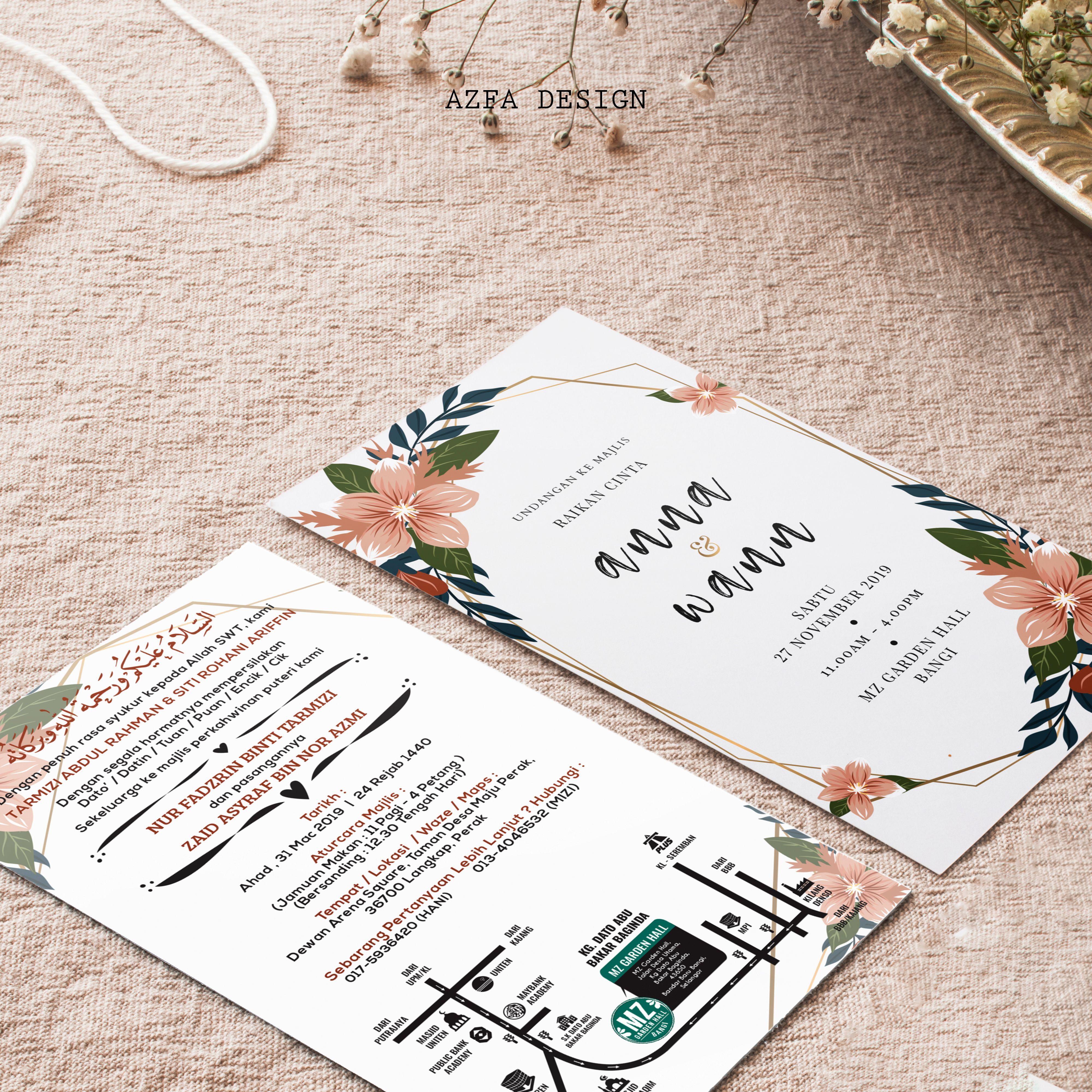 Azfadesign Kadkahwin Bila Ye Biasanya Waktu Yang Sesuai Untuk Tempah Kad Kahwin Seminggu Sebelum Sebulan Sebelum 3 M Invitation Cards Invitations Cards