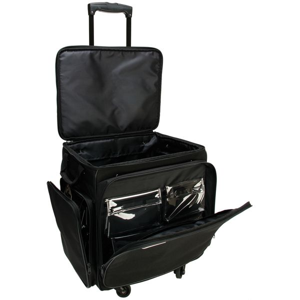 Gogo 300 arts and crafts black spinner upright tote bag for Arts and crafts tote bags