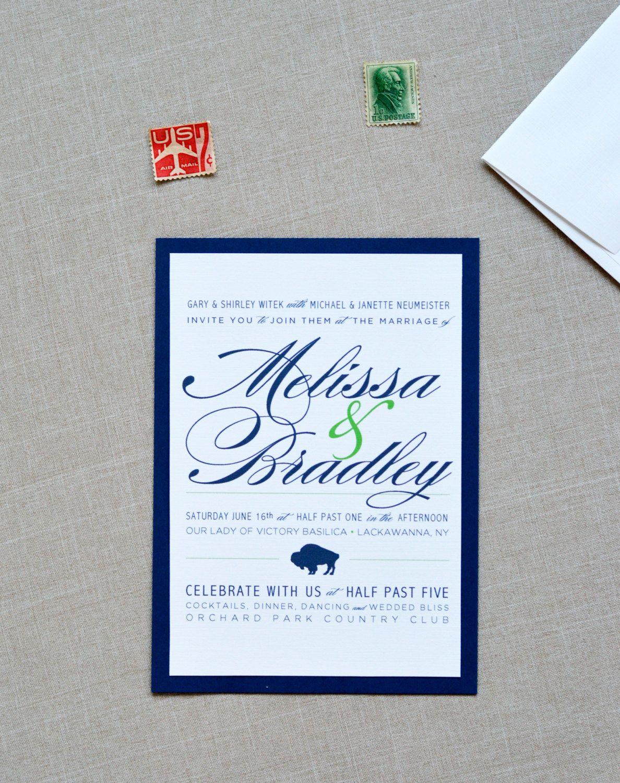 Buffalo, Modern and Traditional, Elegant Wedding Invitation | for ...