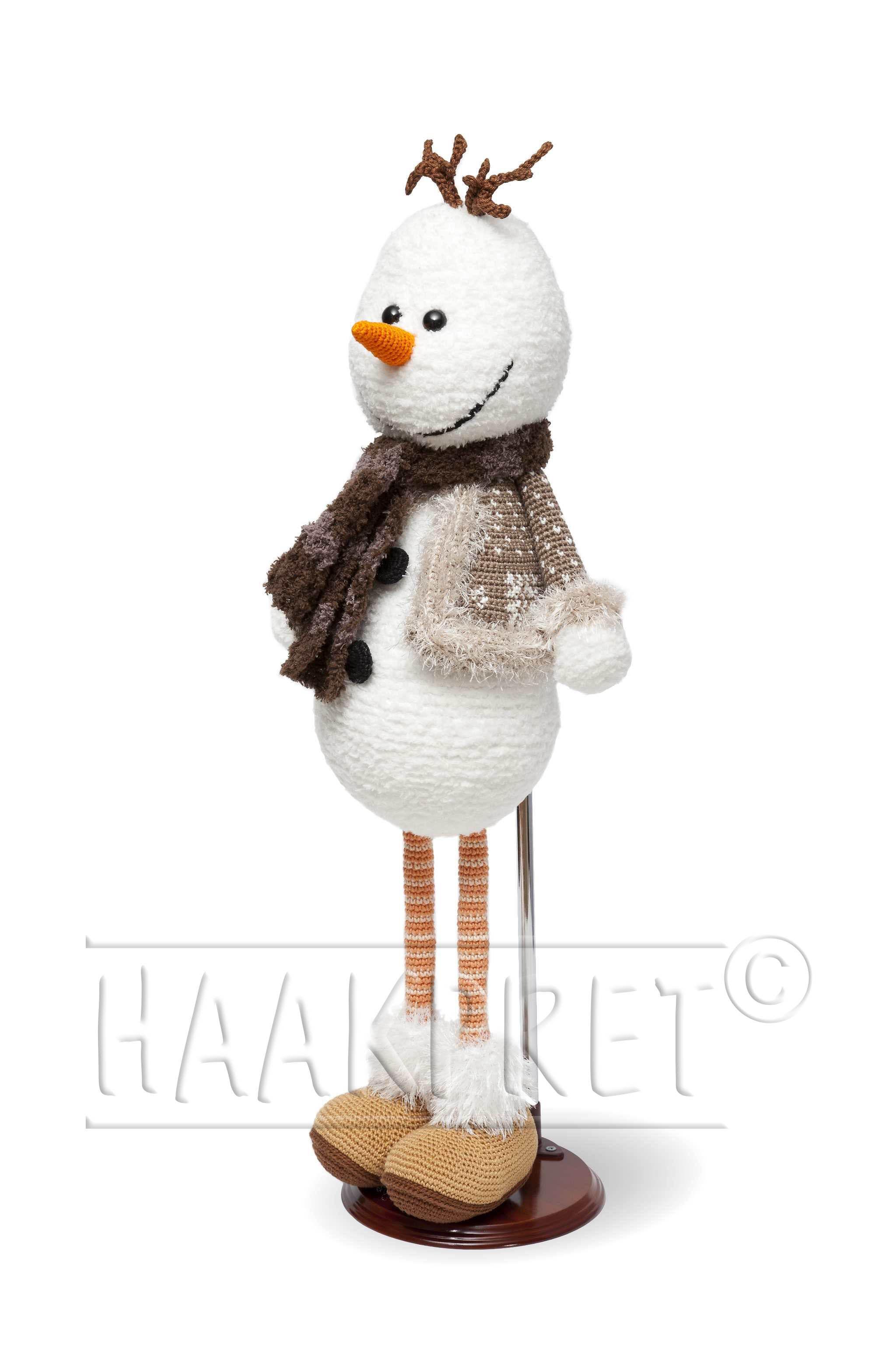 Kerst Sneeuwpop 60 Cm Uit Het Boek Kerst Haken Deel 2 Van Anja