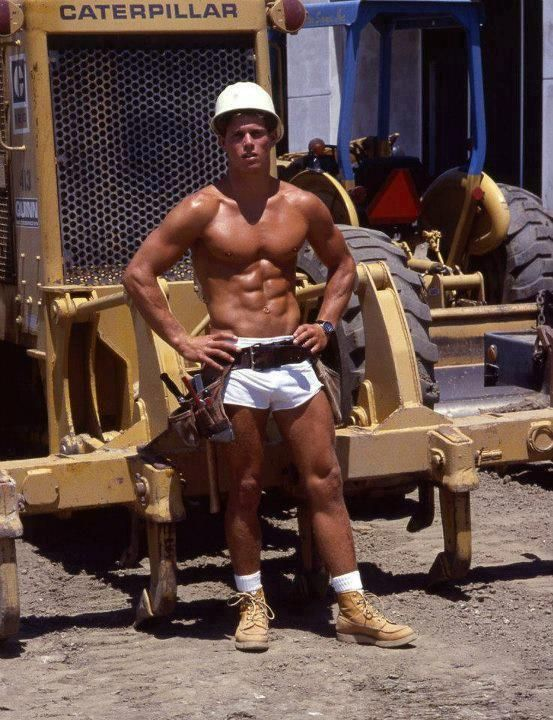 Gay muscled construction