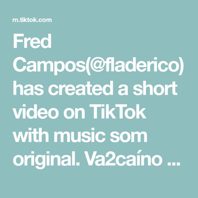 Fred Campos(@fladerico) has created a short video on TikTok with music som original. Va2caíno sonhador! #flamengo #futebol #rival #zoacão #va2co #sonhador #resenha #piada