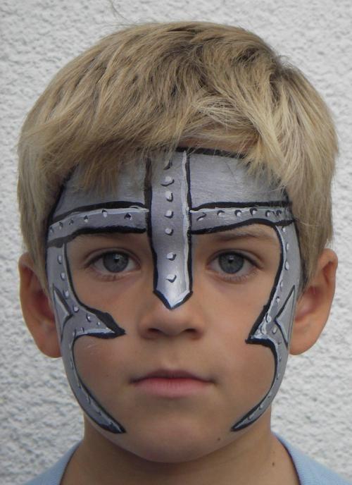 Ritter Kinder Schminken Ritter Kindergeburtstag Pinterest