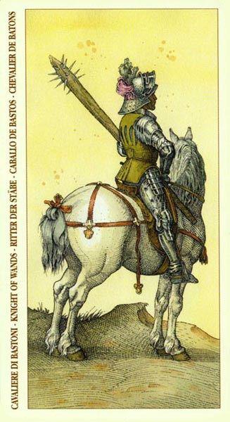 Knight of Wands - Albrecht Dürer Tarot (2002) by Giacinto Gaudenzi