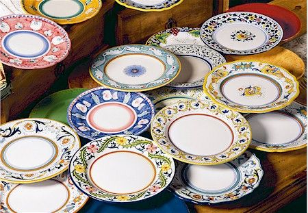 Artistica Deruta Faenza And Vietri Dinnerware Vietri Dinnerware Hand Painted Decor Hand Painted Ceramics