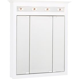 Project Source 31.75 In X 36 In White Lighted MDF Surface Mount Medicine. Medicine  Cabinets ...