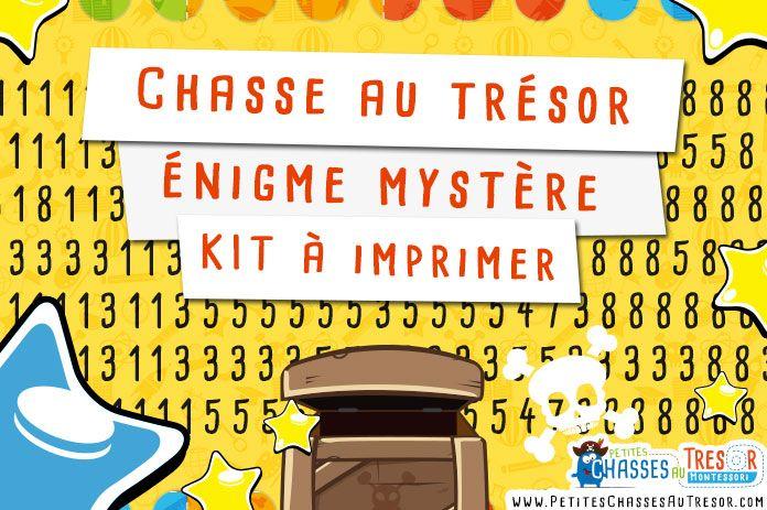 Chasse au tr sor nigme pour enfant imprimer voici un kit d 39 nigme pour enfant faire - Idee d enigme pour chasse au tresor ...