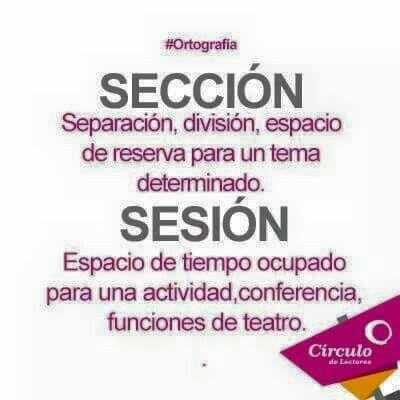 Sección, sesión.