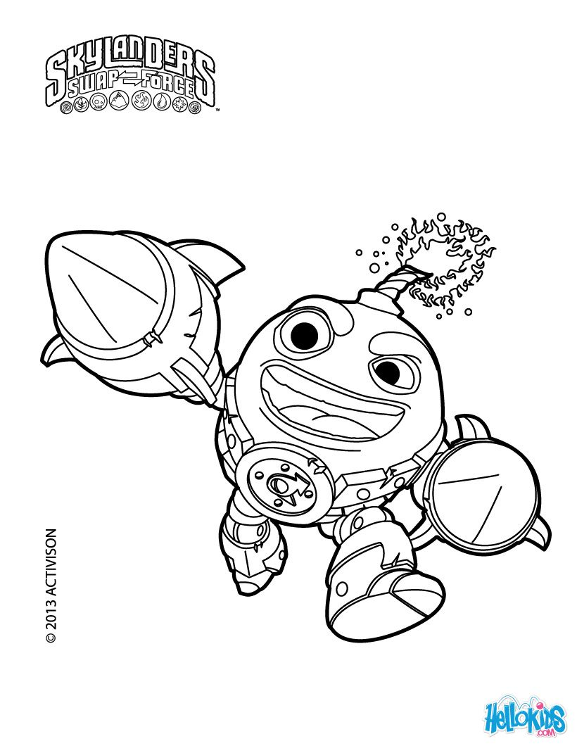 Count Down coloring page | Skylanders Party Ideas | Pinterest ...