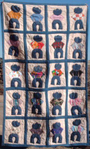 Cowboy Quilt Unusal Quilts Pinterest Cowboy Quilt
