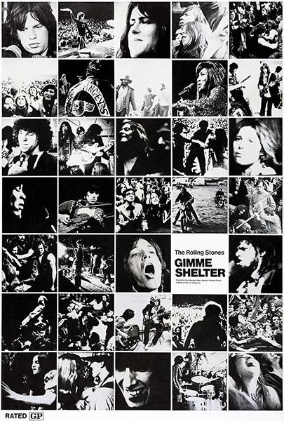 The Rolling Stones Gimme Shelter 1970 Movie Poster