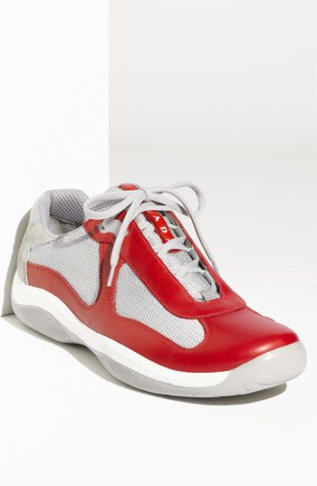 Prada Mesh & Leather Sneakers AD2mjCGGXI