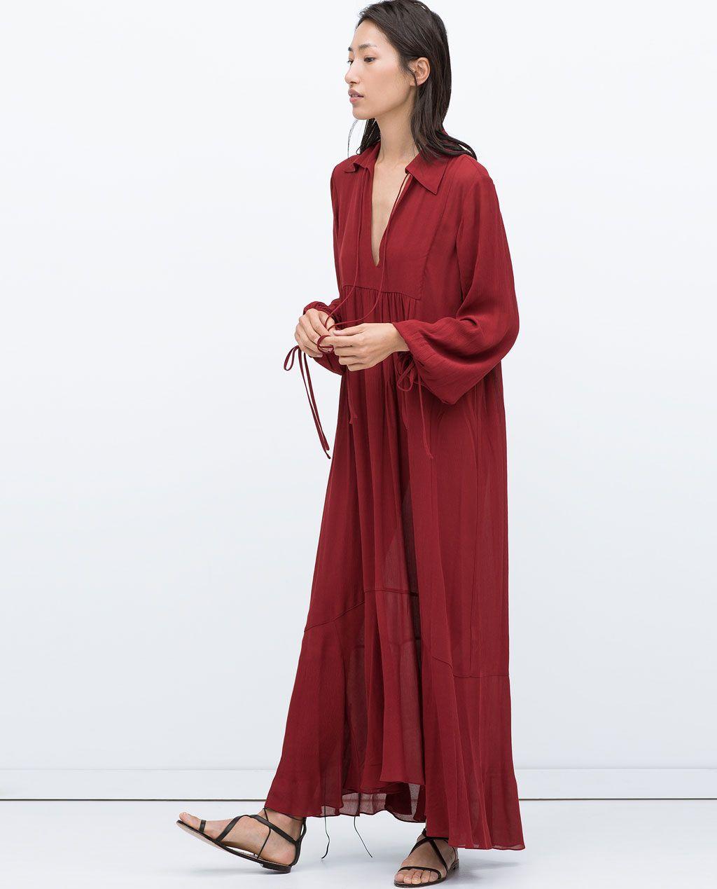 Image of long studio dress from zara my style pinterest zara